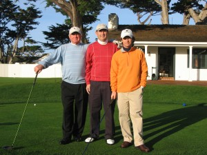 Bill Sr. and Jr and me on 1st Tee