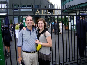 Dad and Meg at Wimbledon